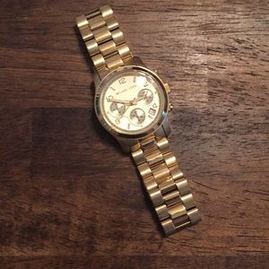 Gold Michael Kors Chunky Watch